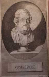 le buste d'Homère (dans une édition fin 18e)