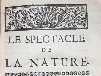 """Motif floral pour """"Le spectacle de la nature"""" (18e siècle)"""