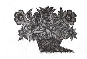 Motif floral, livre début 16e